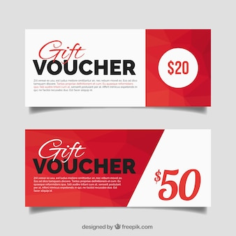 Red geometric gift vouchers