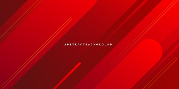 Red geometric shape on colorful gradient background