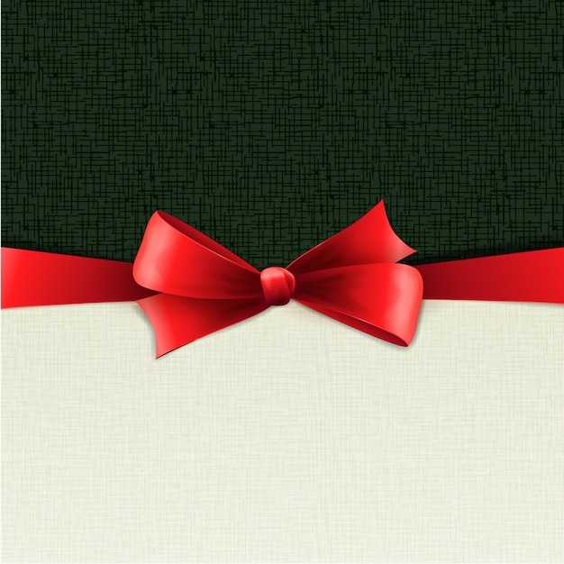 Red gift bows with ribbons.  illustration.