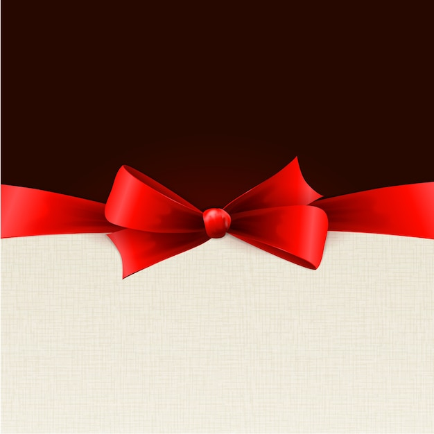 Red gift bows with ribbons.