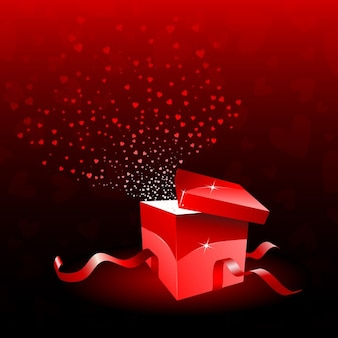 Red gift for valentine