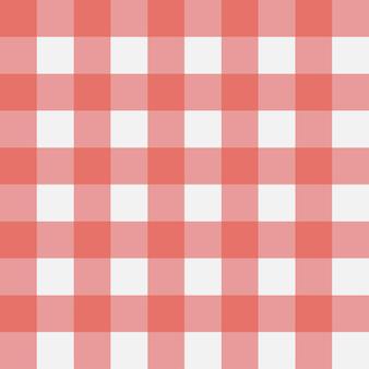 격자 무늬 식탁보 옷에 대 한 레드 깅엄 원활한 패턴 수직 스트립 텍스처