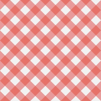 Red gingham seamless pattern texture from rhombus squares for  plaid tablecloths clothes shirt