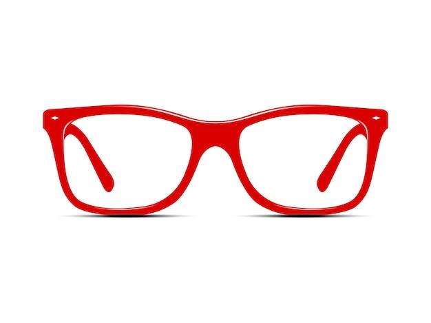 白で隔離の赤いメガネ