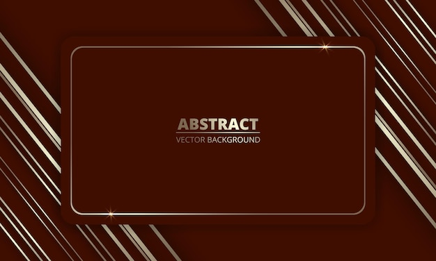 Red and gold luxury background with golden lines and frame