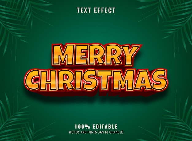 Красное золото роскошный с рождеством редактируемый текстовый эффект