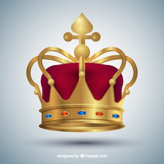 Red and golden crown