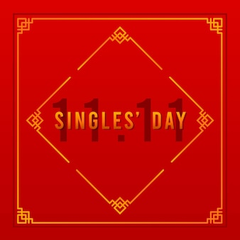 Red and golden singles' day