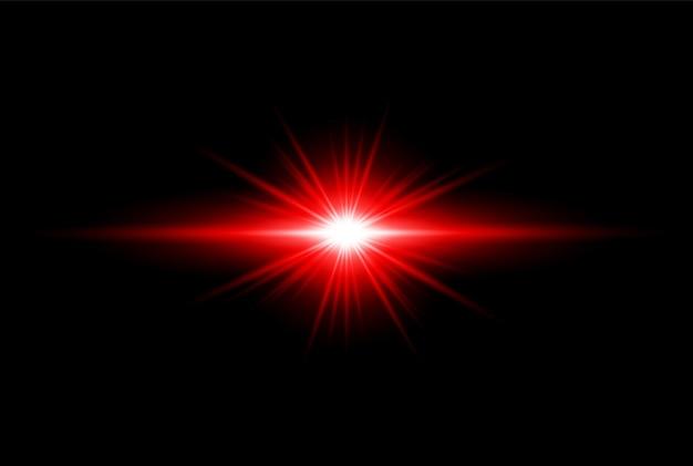 Красный золотой прозрачный свет линзы вспышки дизайн eps
