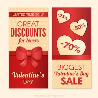 Rosso e offerte di san valentino d'oro