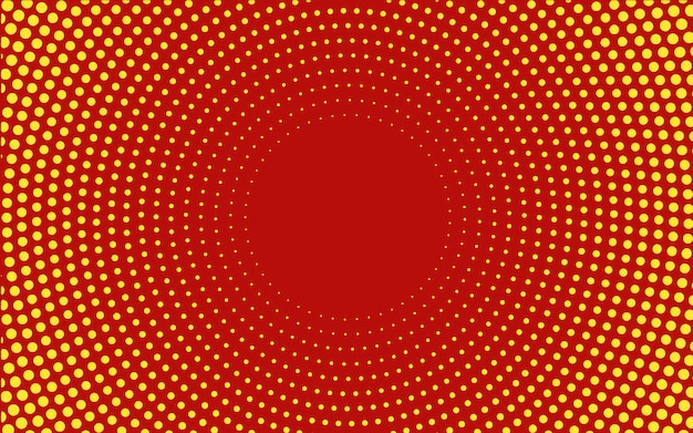 Red gradient halftone background vector
