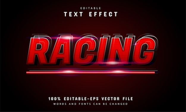 Red gradient racing text style effect