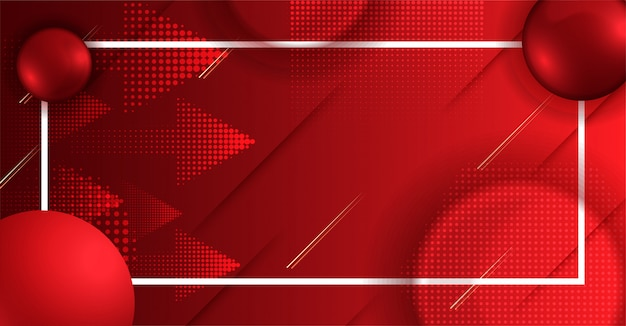 矢印アイコンと赤のグラデーション画面
