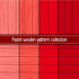 Red gradient of shabby chic wooden seamless patterns