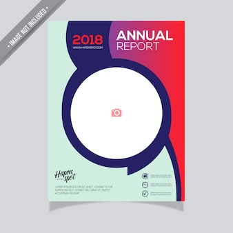 Red and green annual report design
