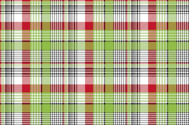 Red green check fabric texture seamless background