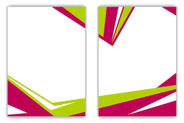 Красный зеленый геометрический яркий фон флаера. векторный дизайн искусство