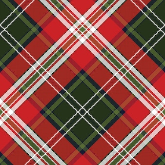 Red green plaid seamless fabric texture