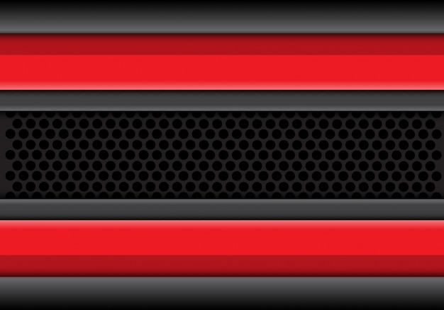 Red grey line overlap on circle mesh background.