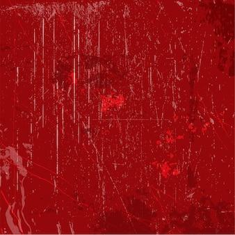 感嘆符と汚れの赤いグランジ背景