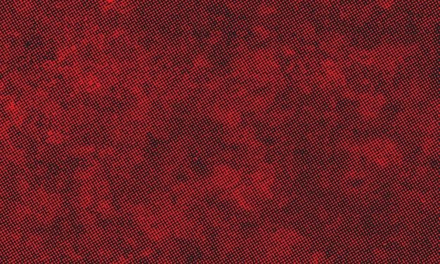 赤いグランジスタイルのハーフトーンパターンの背景
