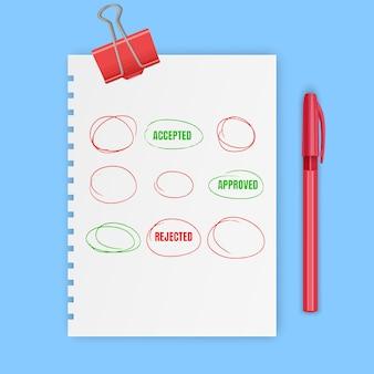 Красные рисованные круги, отметки для выбора текста или выбора объекта