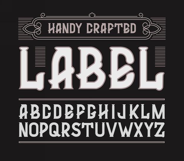Red handy crafted vintage label font.