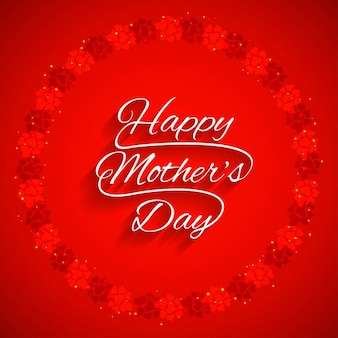 Red happy mothers day background