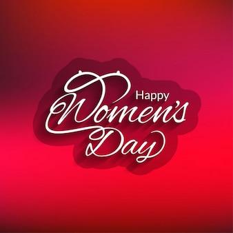 빨간 행복한 여성의 날 카드 디자인