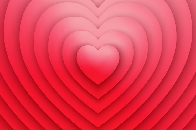 Red heart love symbol abstract 3d background