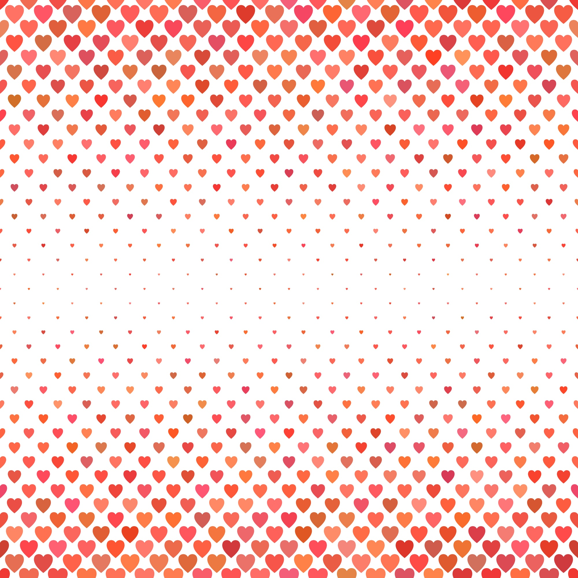 Red heart pattern background