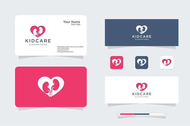 Red heart shape self love logo. love and heart care icon health & medical care concept. vector illustration