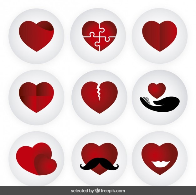 Red hearts collection
