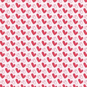 Красные сердца бесшовные векторные шаблон дизайна