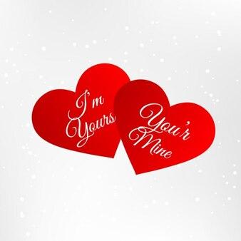 Красные сердца с любовью сообщение