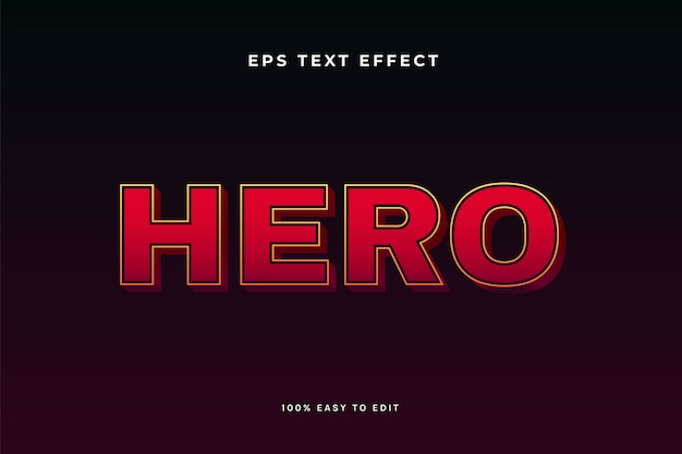 Red hero text effect