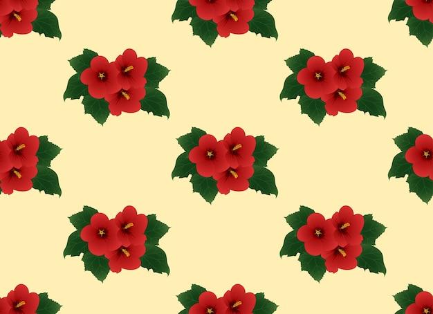 아이 보 리 베이지 색 배경에 빨간 히 비 스커 스 syriacus