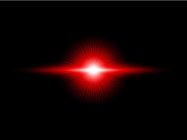 赤い水平レンズフレアパック