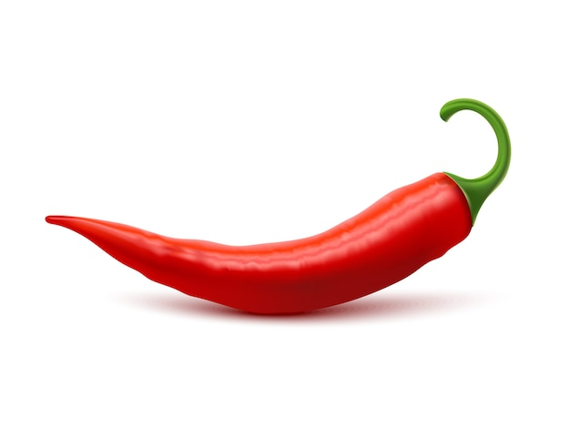 Red hot chili pepper realistic image