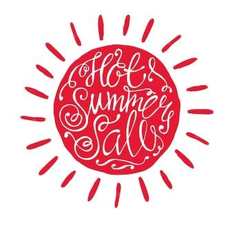 레드 핫 여름 판매 배경