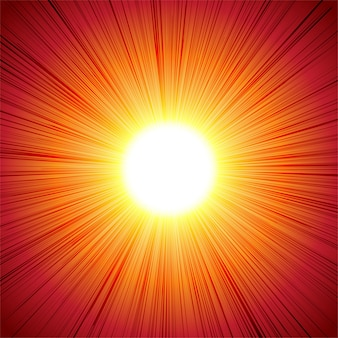Red hot sun ray radiant abstract