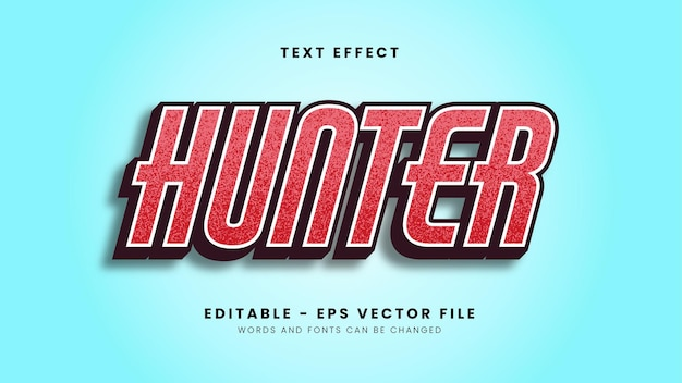 Red hunter font effect with modern dot texture