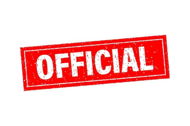 Красный значок с официальной концепцией