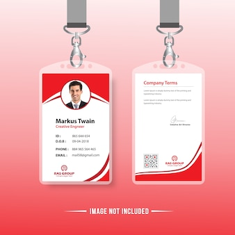 Red Identification Card