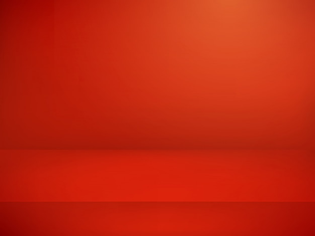 Red illuminated stage.