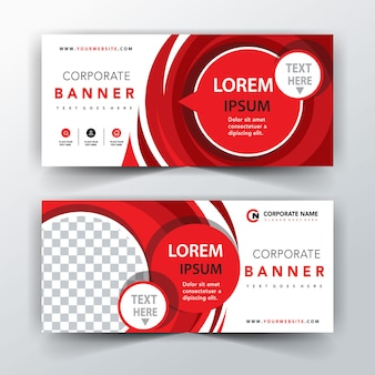 Red illustration abstract banner