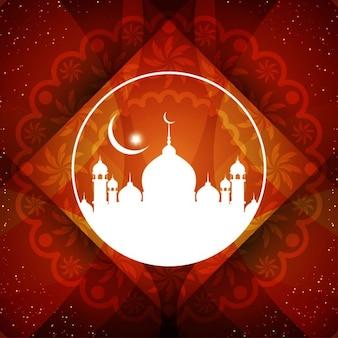 レッドイスラム背景デザイン