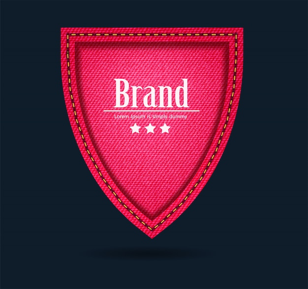Red jeans shield icon protect guard sign
