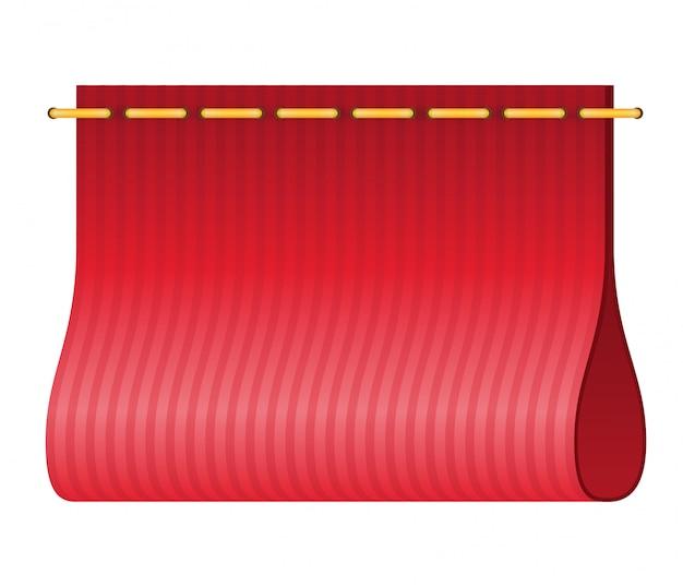 Красная этикетка для одежды.