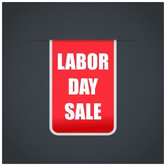 Red labor day sale tag